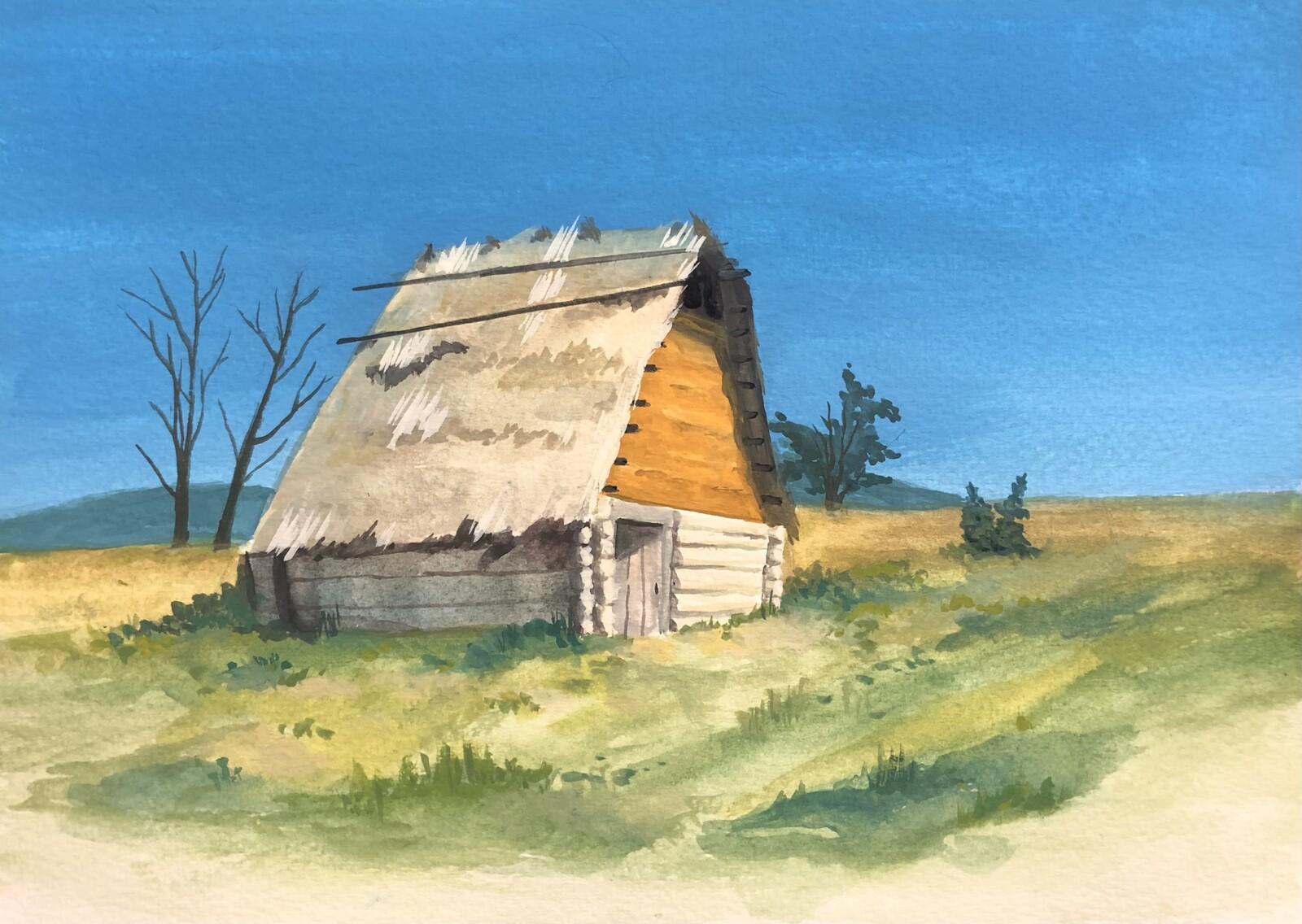 Cottage (Gouache)