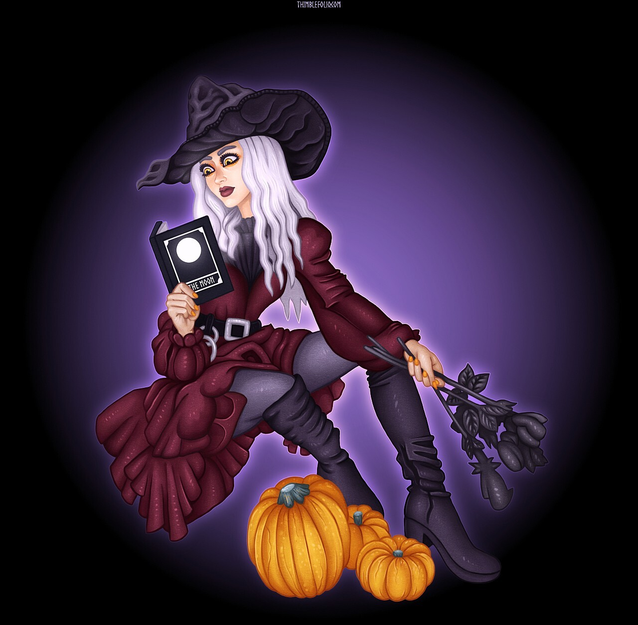 Witch Reading a Book