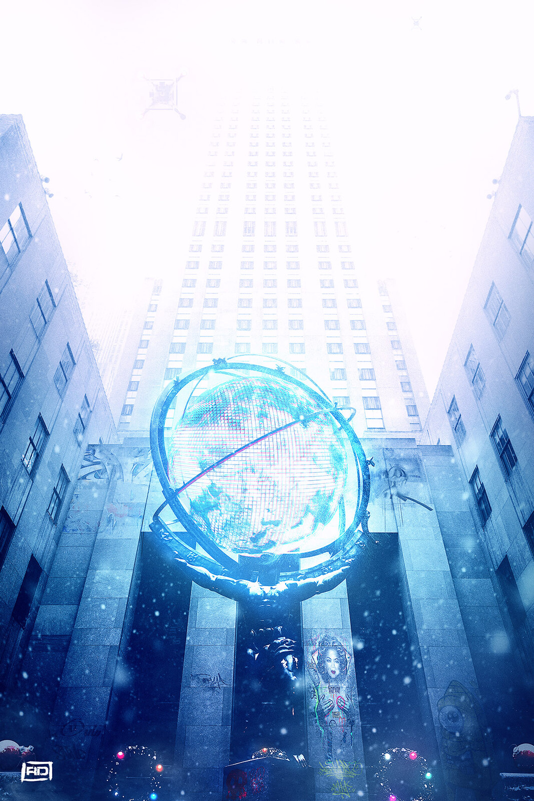 New york 2130 : Atlas on the 30 Rockefeller Center Plaza