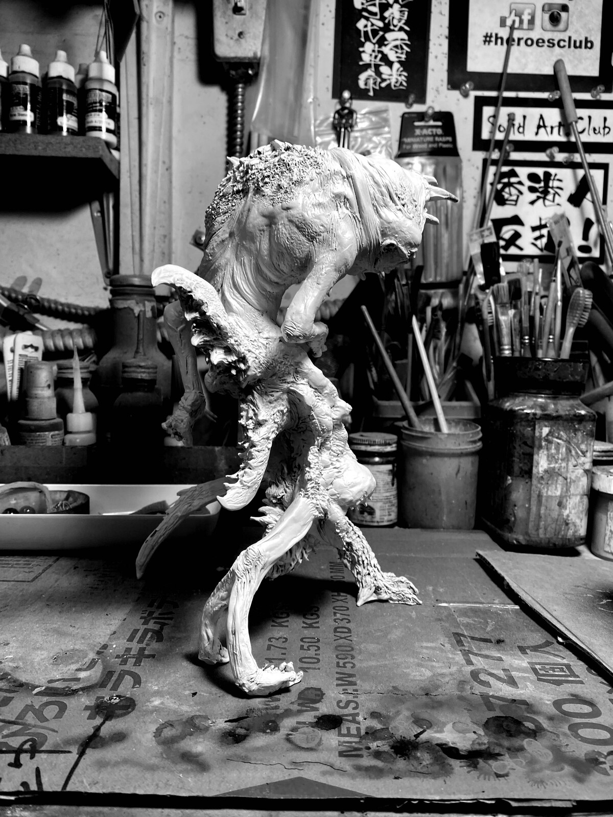 "John Carpenter ""The Thing""  Blair Who Goes There Monster Art Statue  https://www.solidart.club"