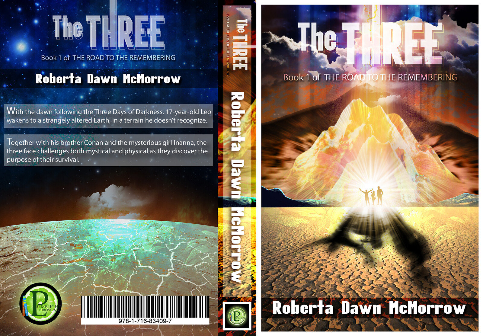 Book cover design I created for 'The THREE', written by Roberta Dawn McMorrow and published by Limelight Publishing.