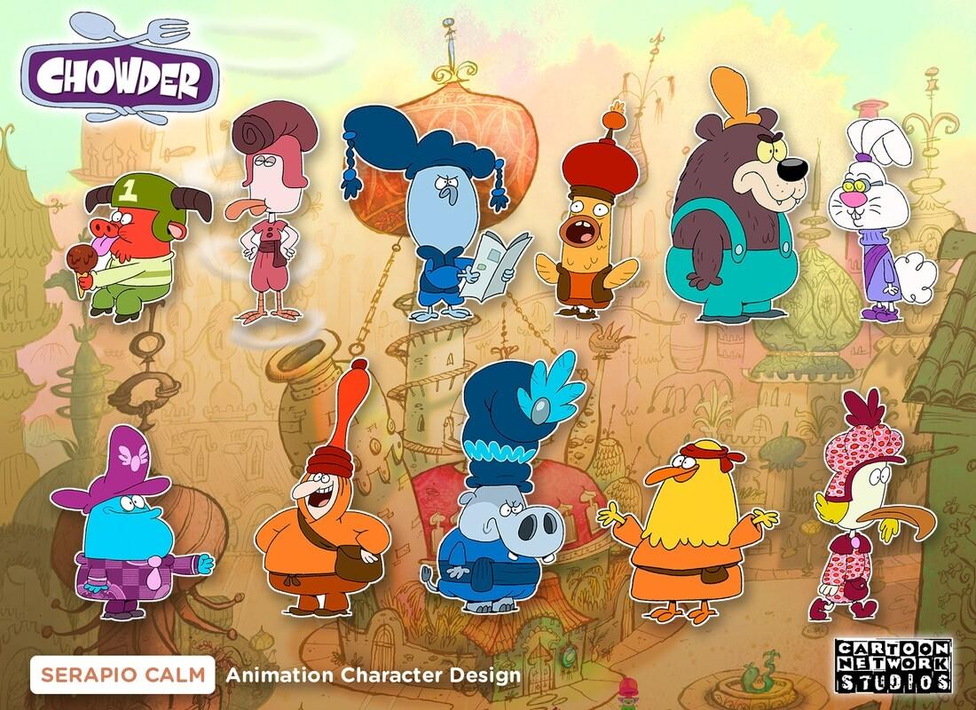 Artstation Cartoon Network Chowder Incidentals Serapio Calm