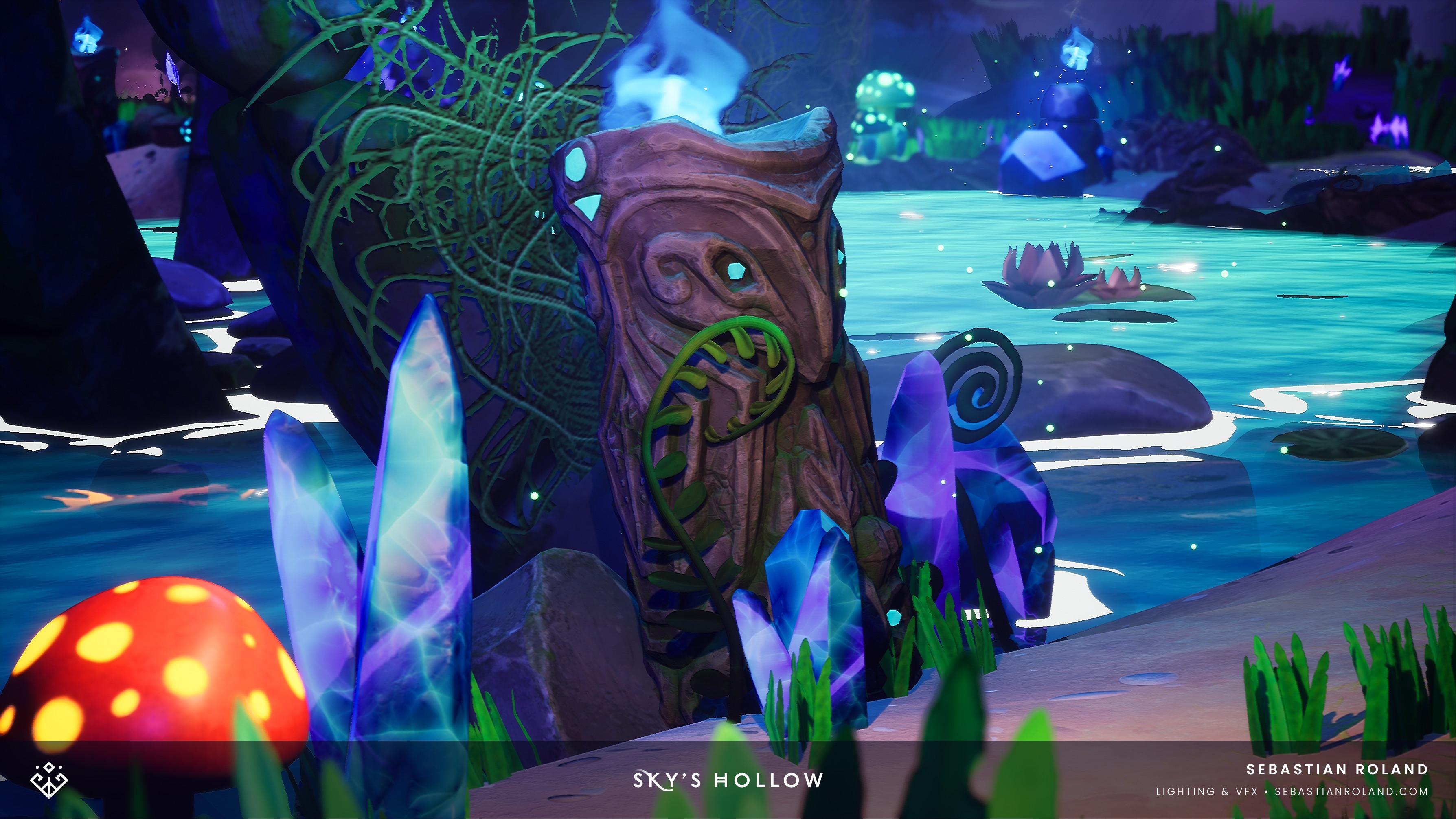 Statue brazier FX in game