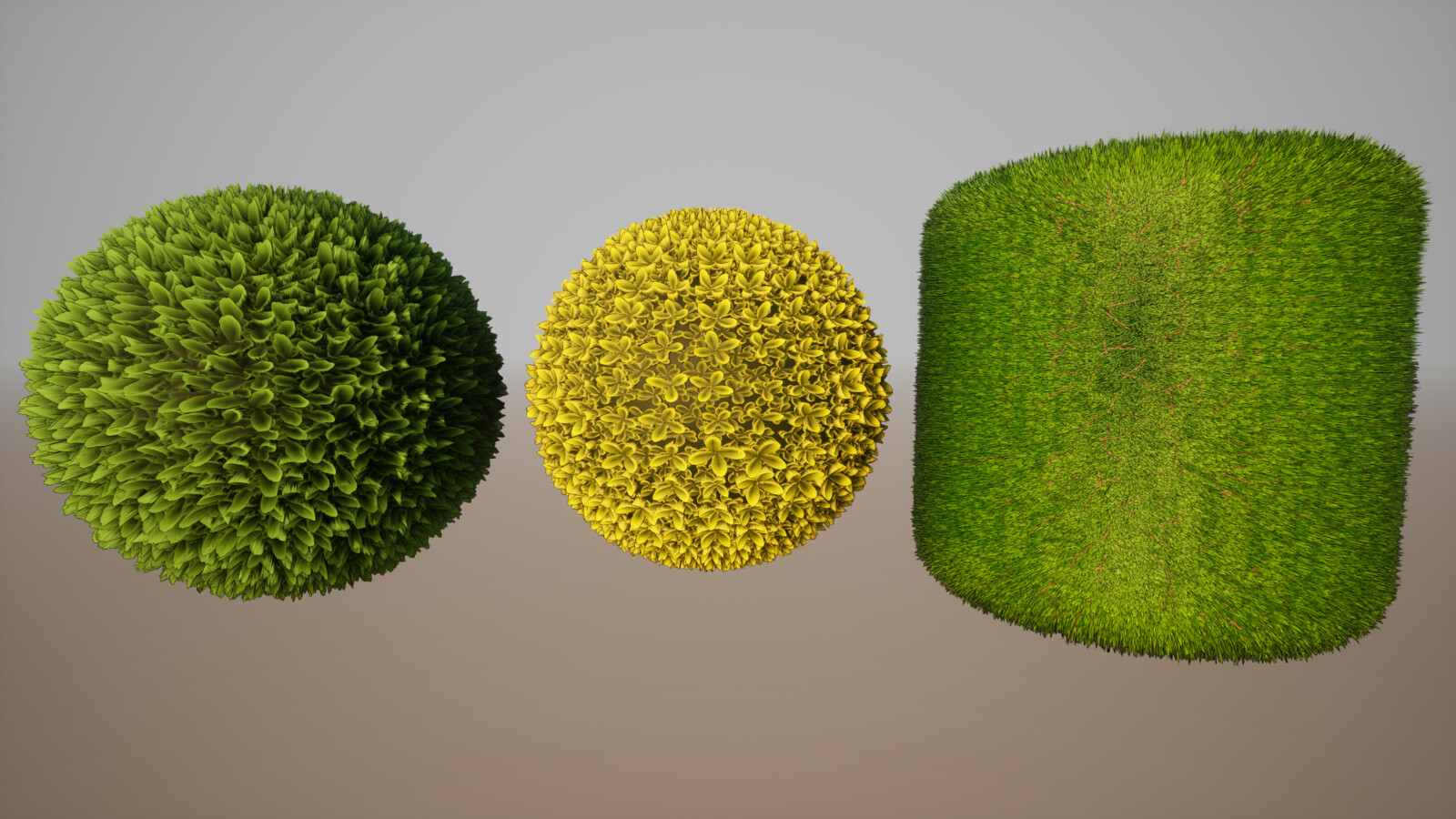 Tree Leaves, Bush, and Grass 2K Tiling Materials