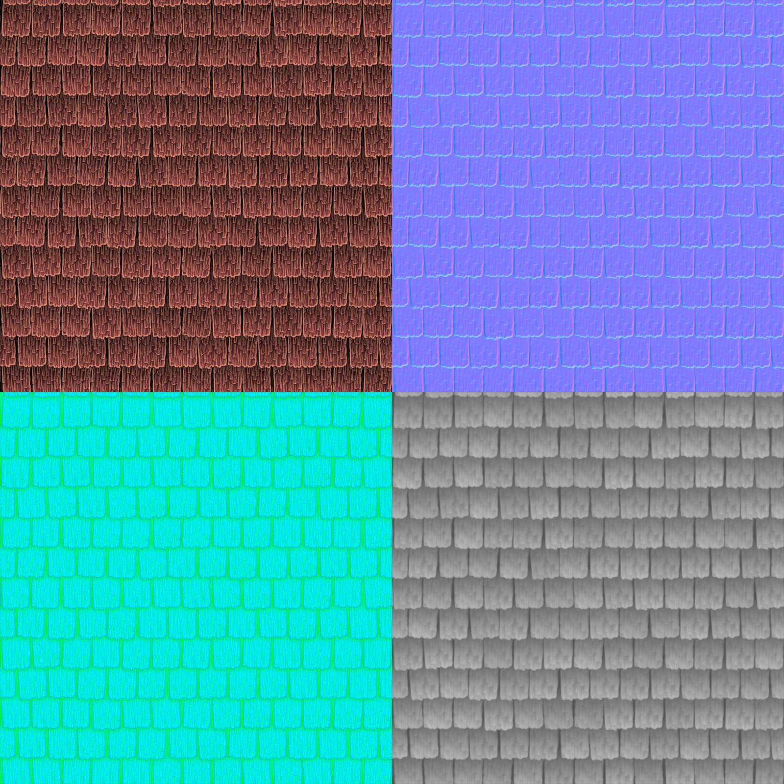 Roof Panel Texture Flats