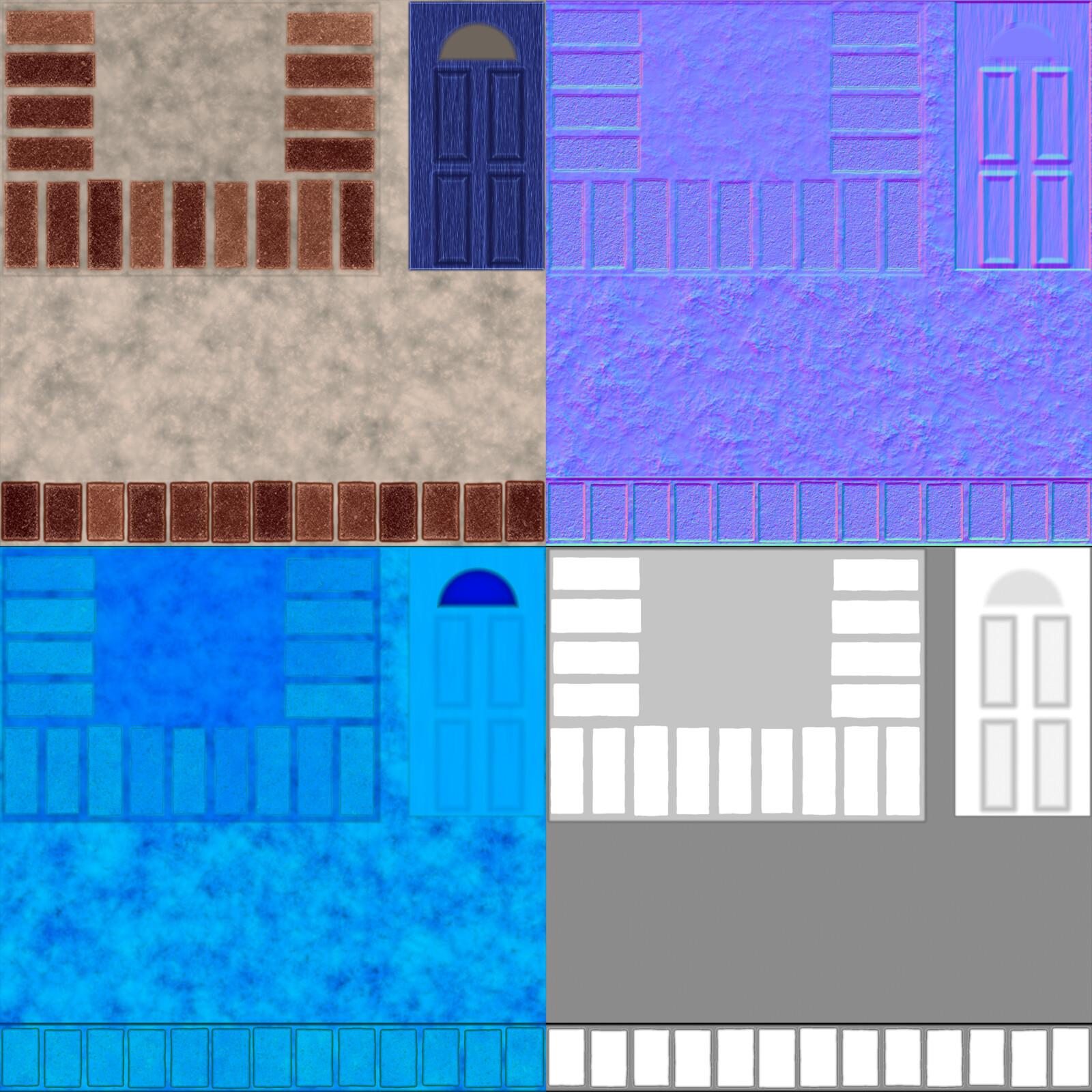 Front Steps/Door Texture Flats