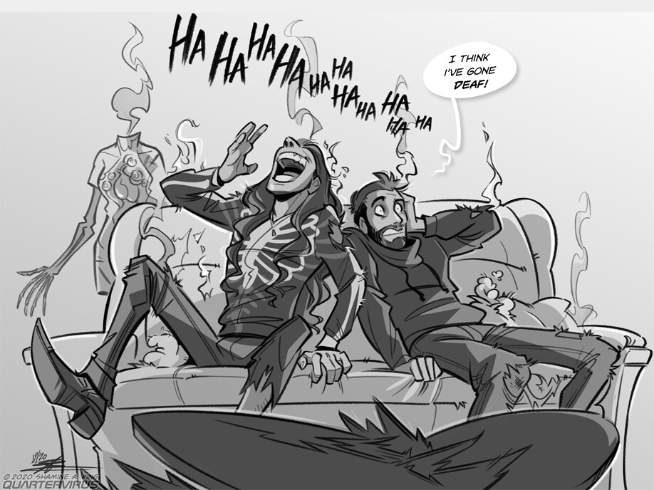 I have it on good authority this actually happened.  Feat. Dennis (AKA: Seregor-off-duty) of Carach Angren, and his buddy Negakinu.