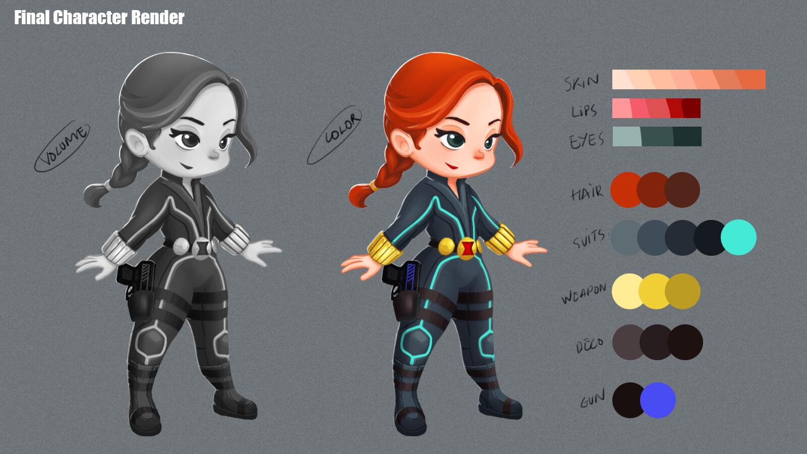 Black Widow Design and color scheme