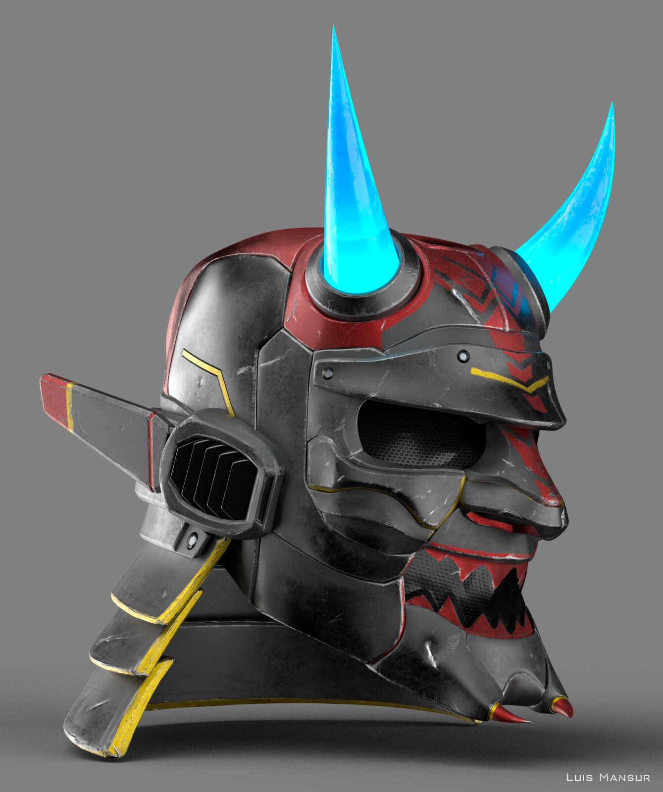 Sci-fi Samurai Helmet