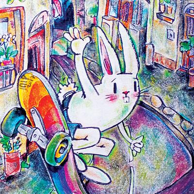Fourtoeight skater bunny