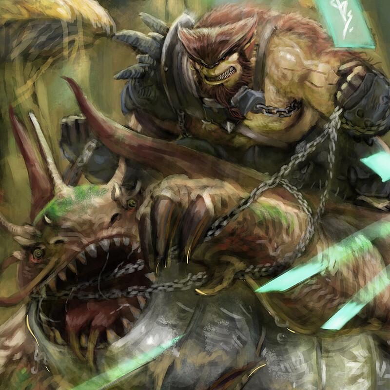 Dragon Hunting Illustration Series