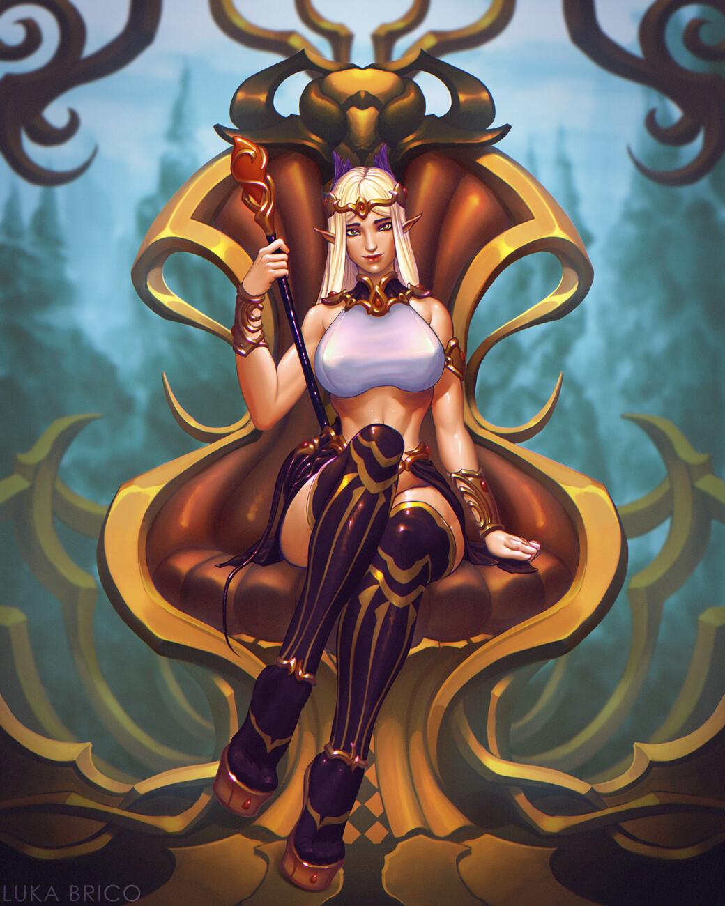 High Elf Priestess: Daerunia