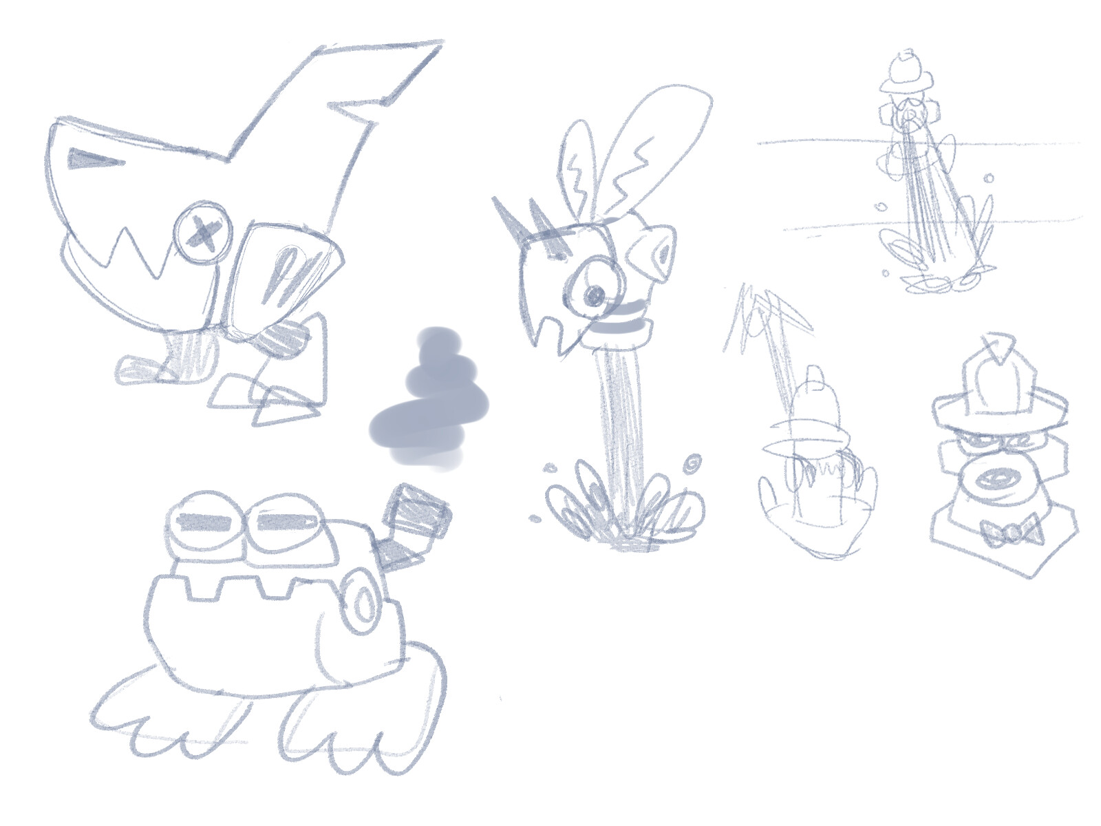 Mostly unused enemy concepts