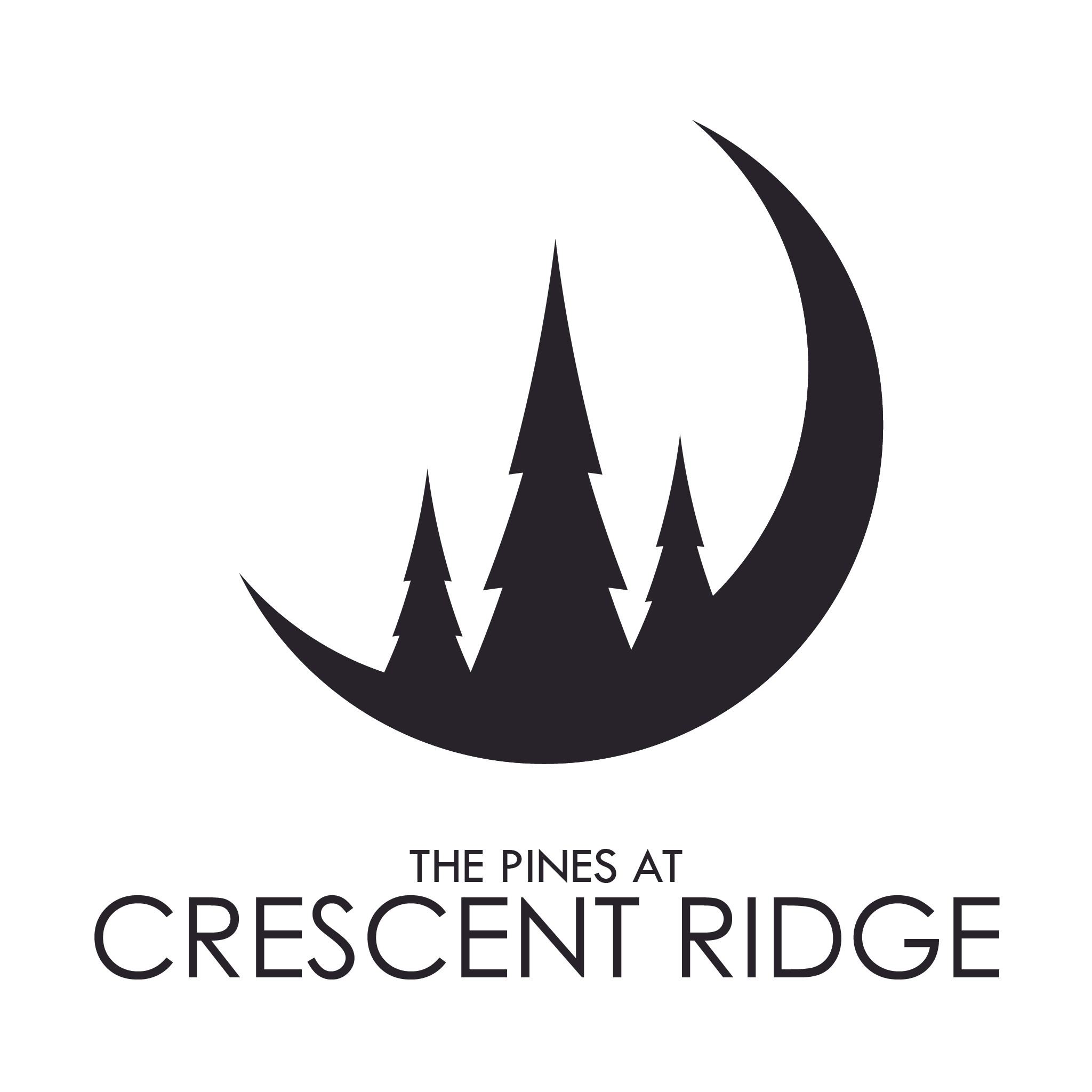 Crescent Ridge Logo - Alt B&W