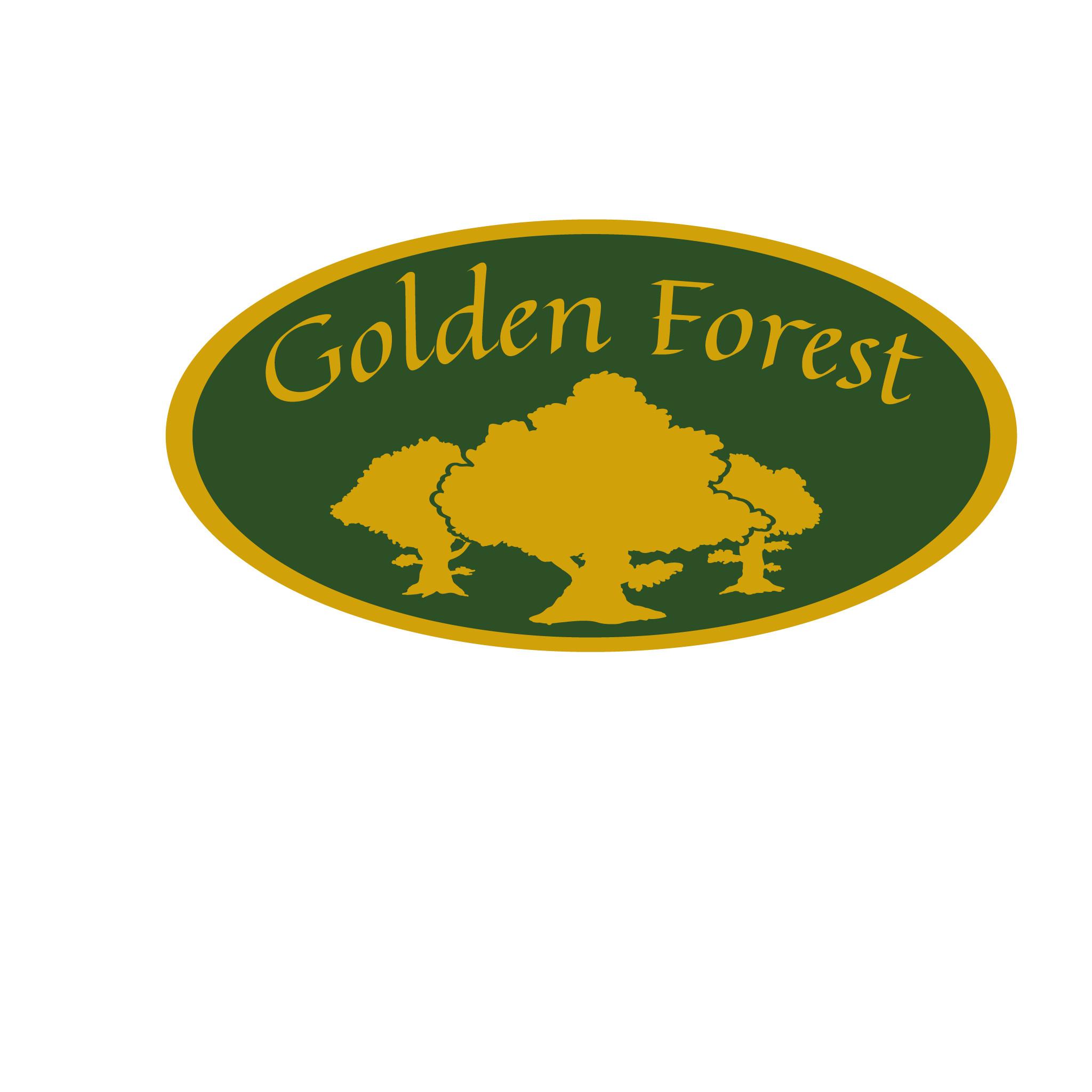 Golden Forest Logo - Inverted