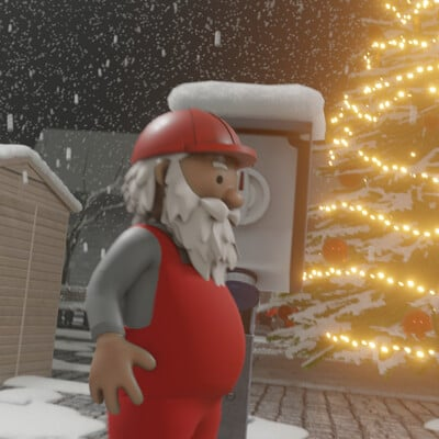 Dennis haupt 3dhaupt 3dhaupt rigged and animiated santa claus from the construction site modeled rigged and animated by dennish2010 in blender 2 91 using blender add on rigify 3