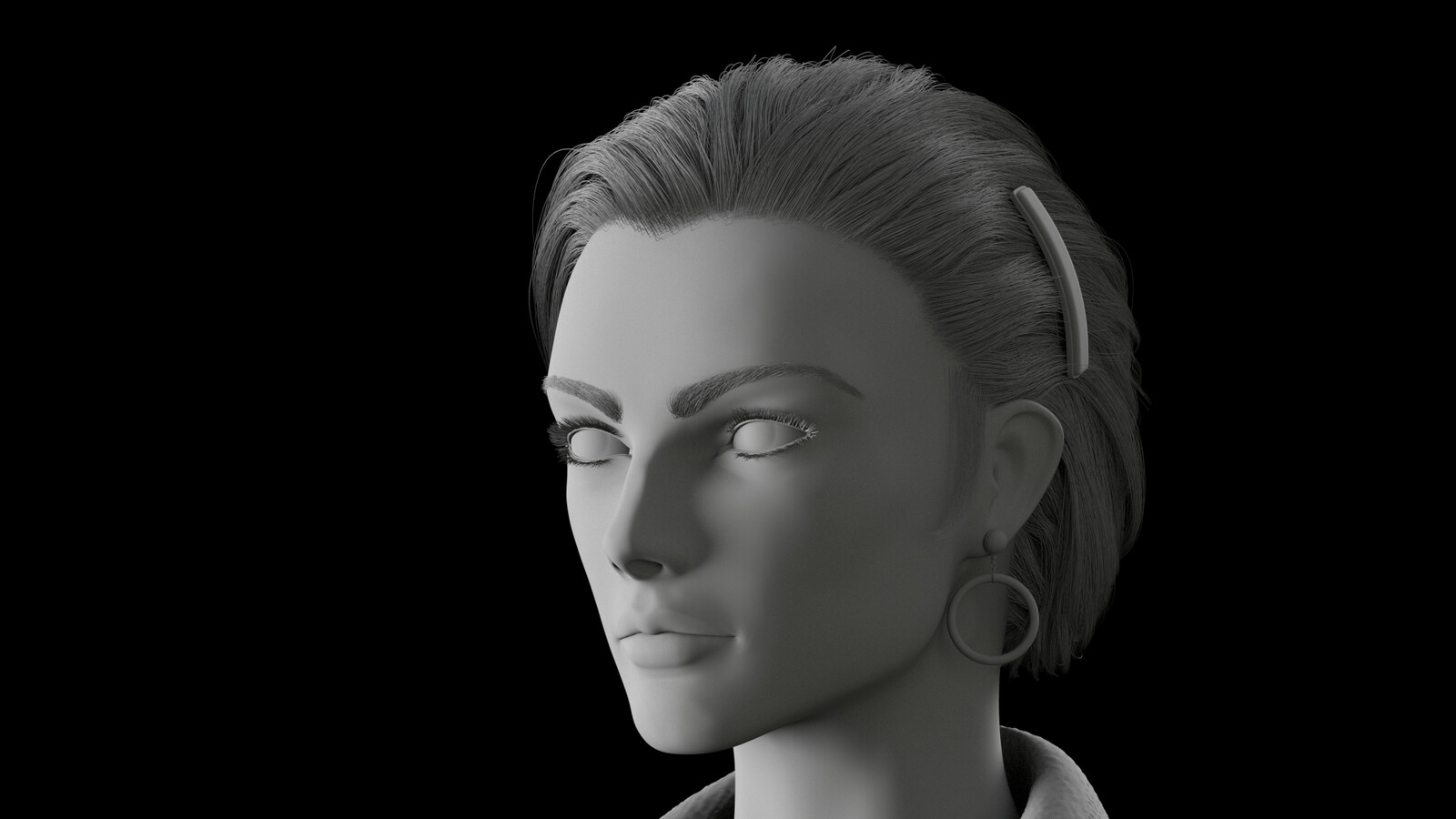 Grayscale render