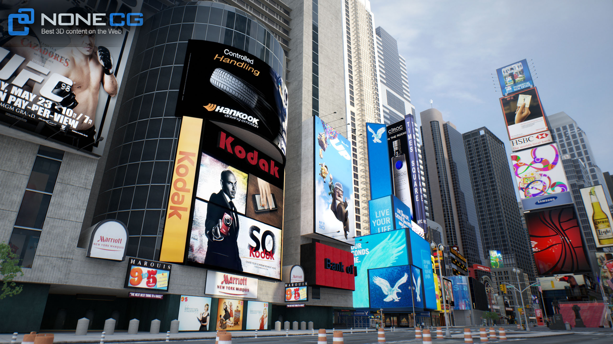 3D NYC Times Square & Broadway