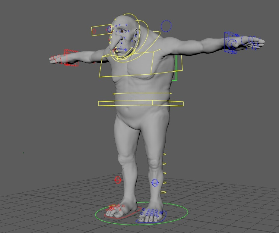 Base rig for a troll in the feature film Ashlad