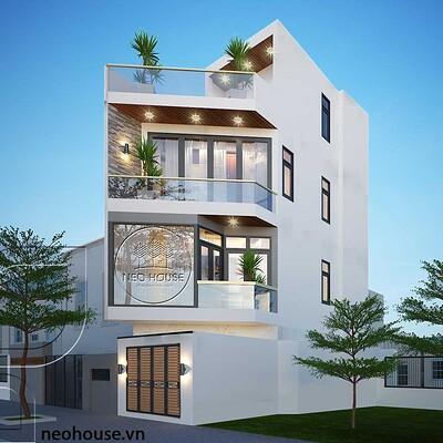 Neohouse architecture thiet ke nha pho vat goc 3 tang 1 tum mat tien 4m 1
