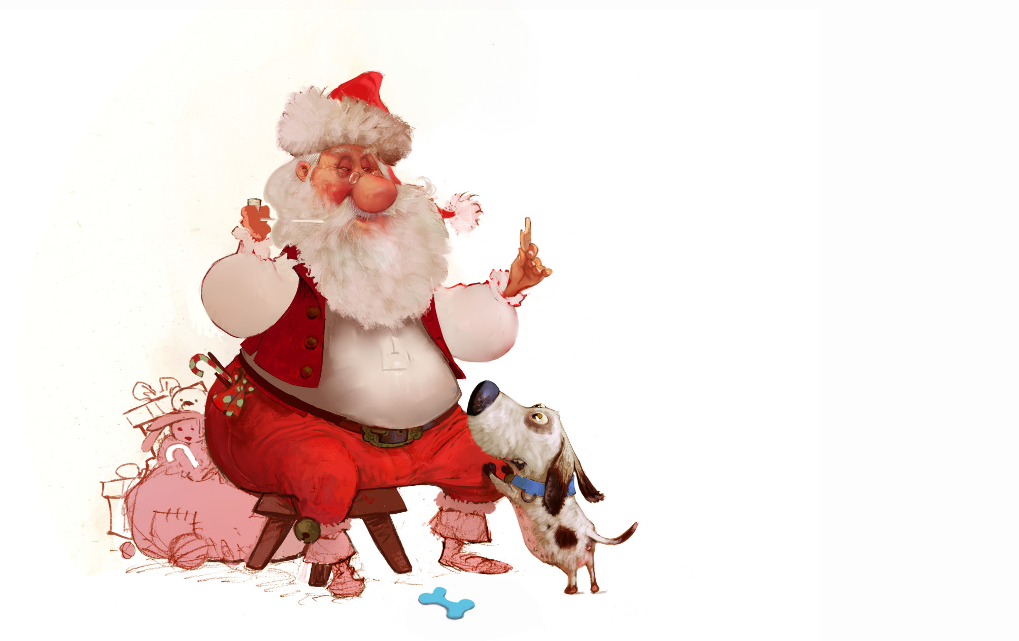 I replaced the elf by a dog!
