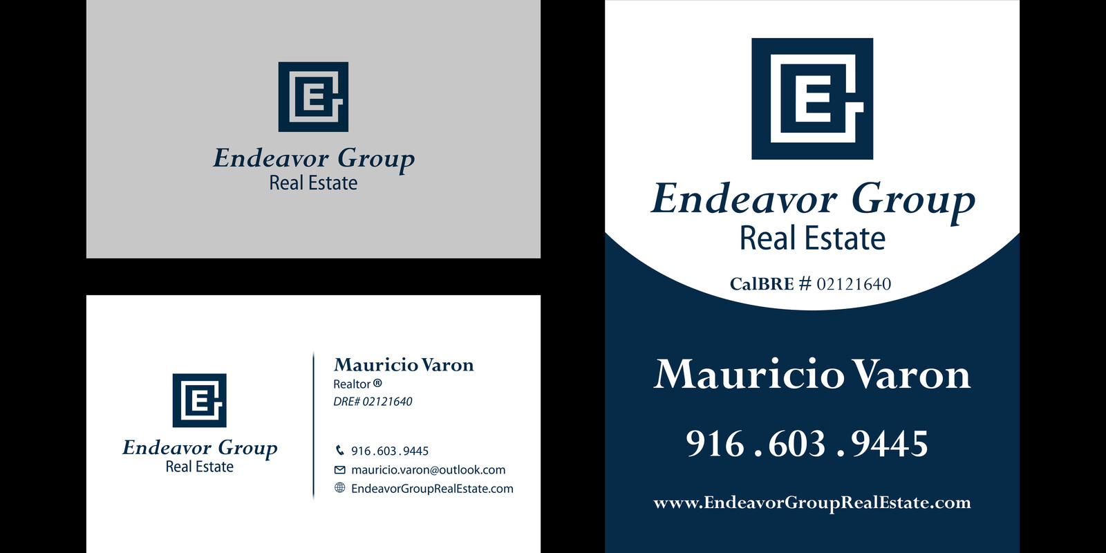 Logo and banner design for real estate agent