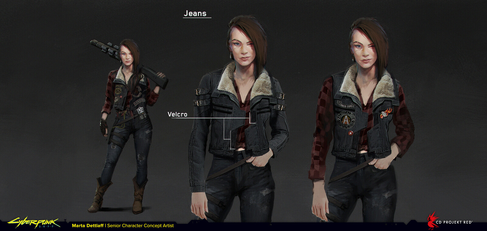 Example of working on crowd assets - jacket which is a base for many different appearances.