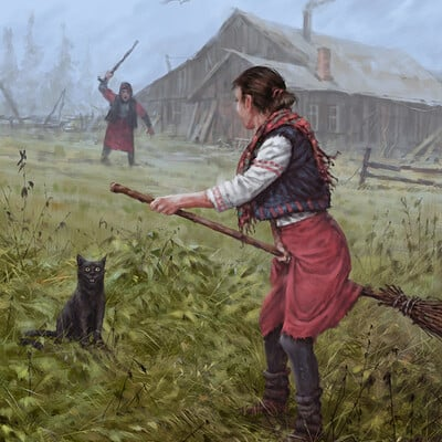 Jakub rozalski over my dex body small