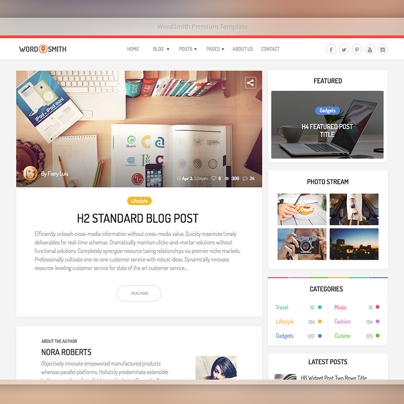 3 Premium Template for ThemeForest