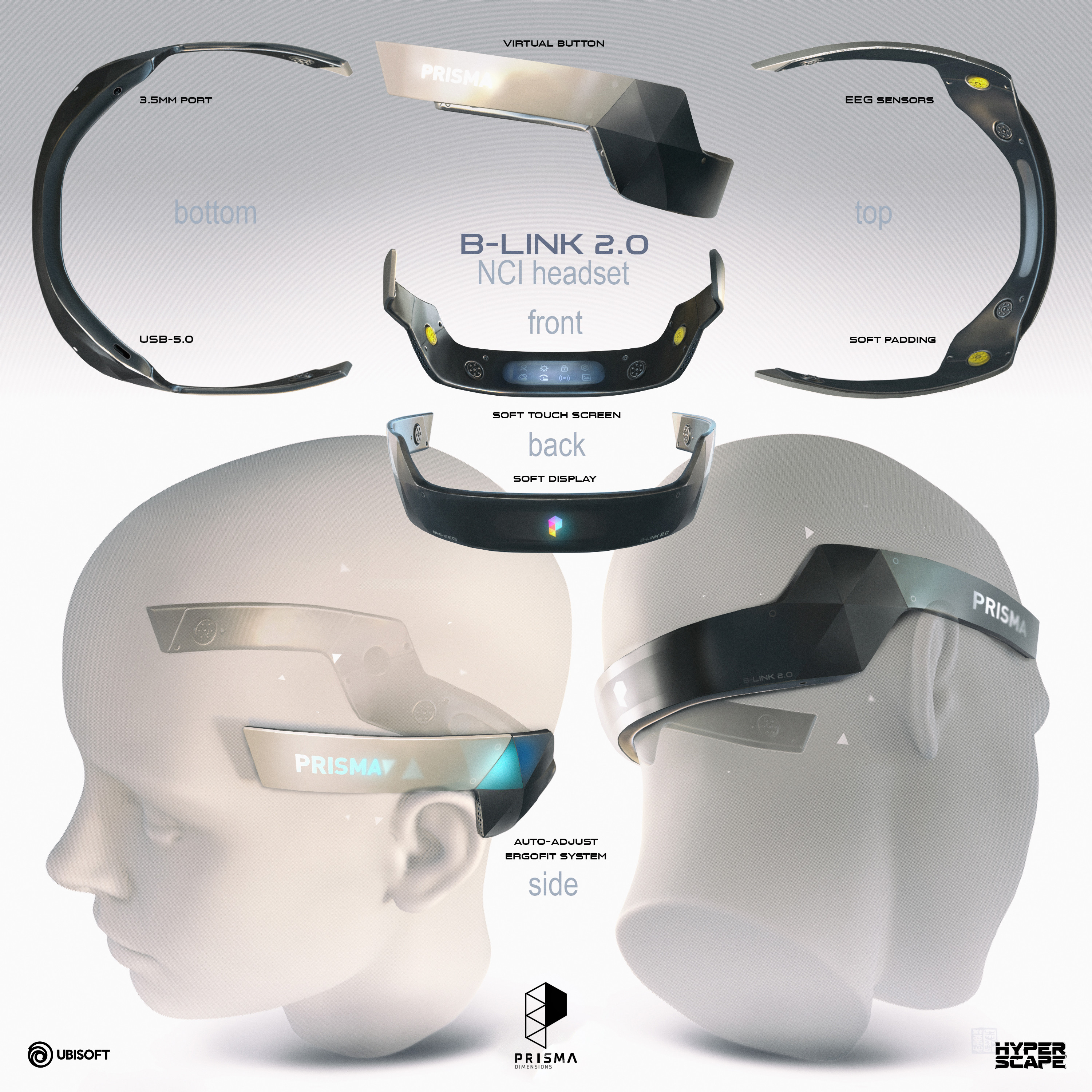 Virtual headset made for the official game trailer (see below)...