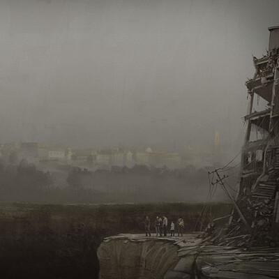Ronnie tegnemaskin ronnie jensen chasm endpaper illustration 154x216mm wip02