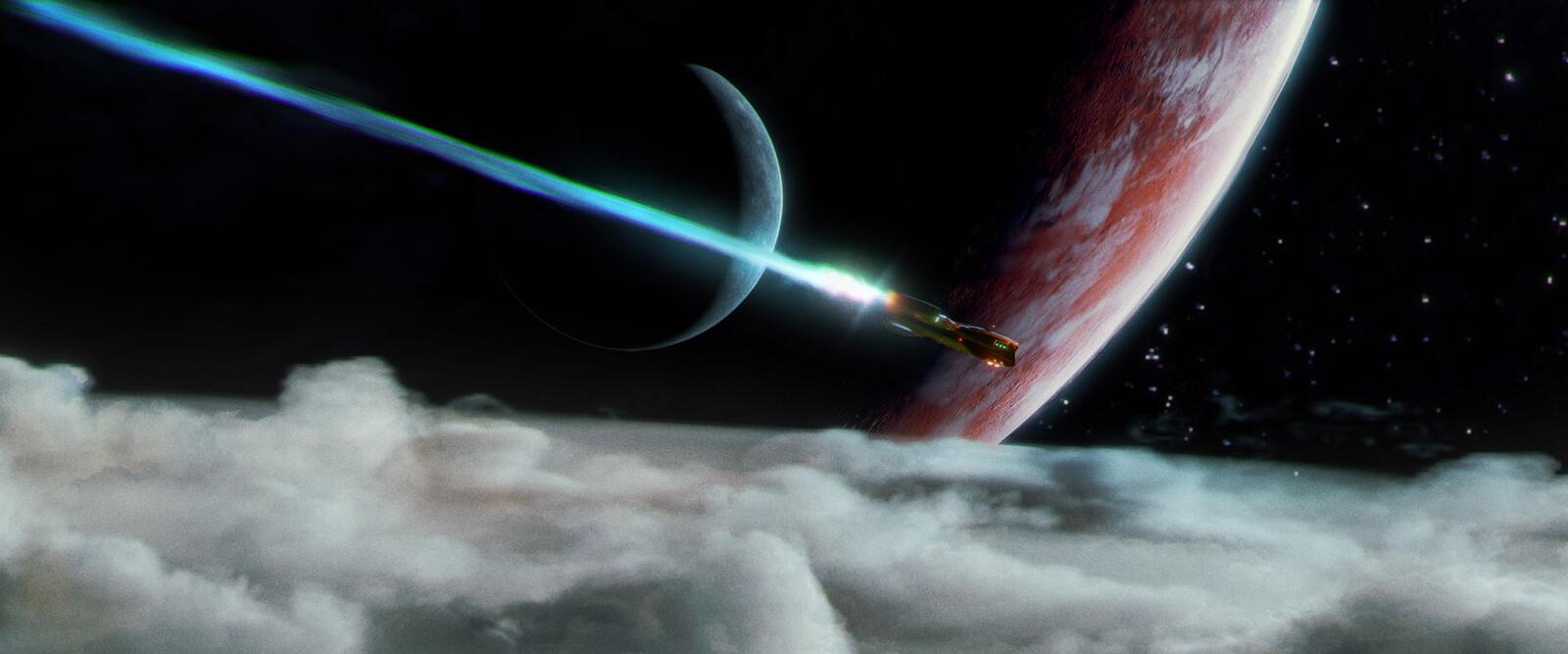 entering orbit