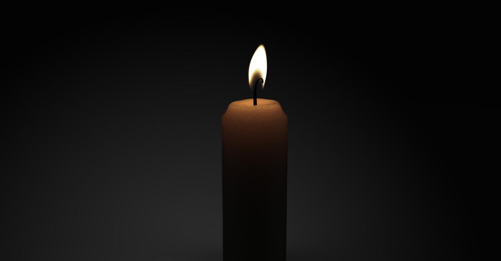 Animated candle (Keyshot)