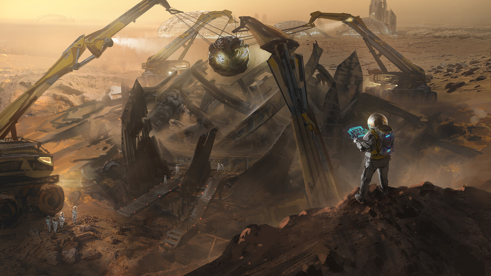#1 - Not long after the beginning of Mars colonization, a team of young scientists discover an alien ruin on the Red planet. The relics found inside the ruin contains so many technologies with the level of advancement far beyond the imagination of Human.