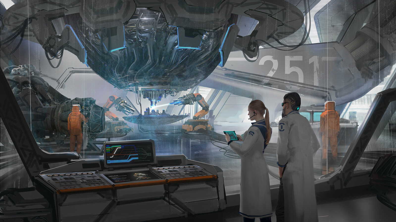#2 -  The relics then been transfer back to Earth, where the best scientists around the system gather and study the artifacts. This leads to an unexpected found: the alien technologies open the door to FTL (faster than light) travel, and a new way to harv