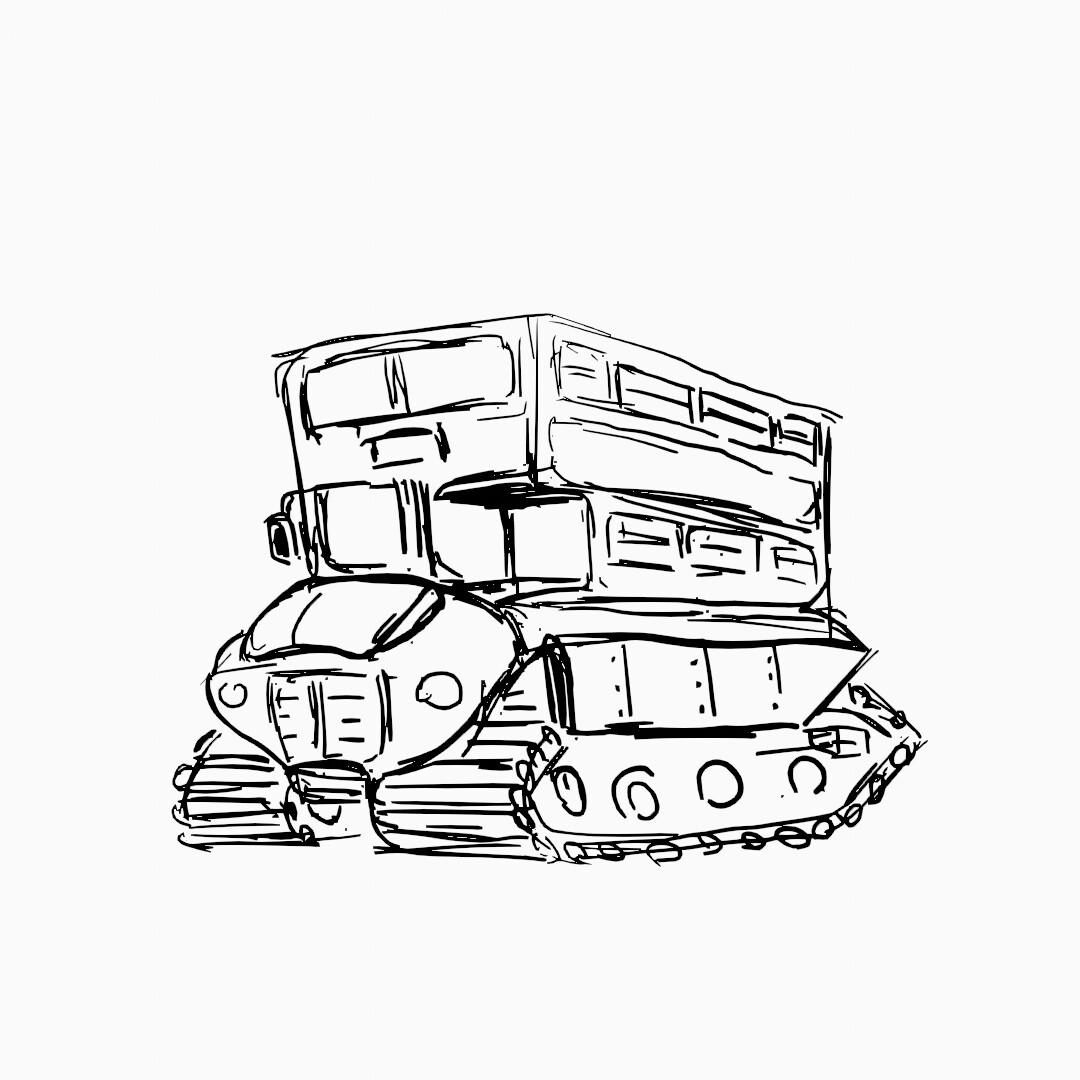 chosen design sketch.
