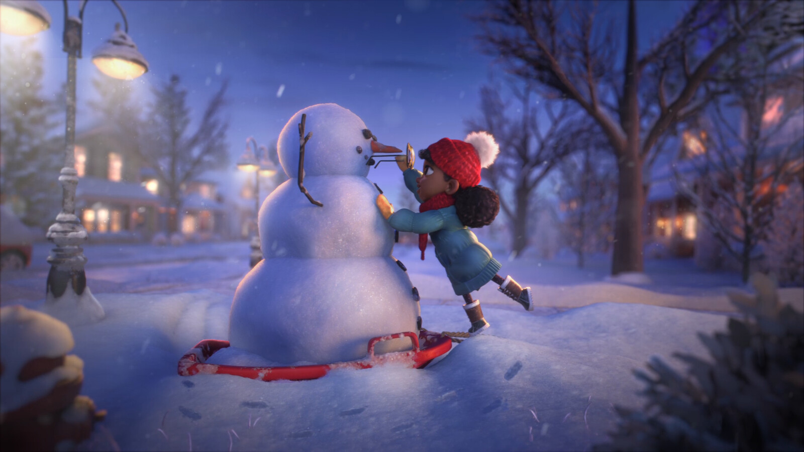 Set and Snowbuddy Shading, Textures and Shot Lighting 04