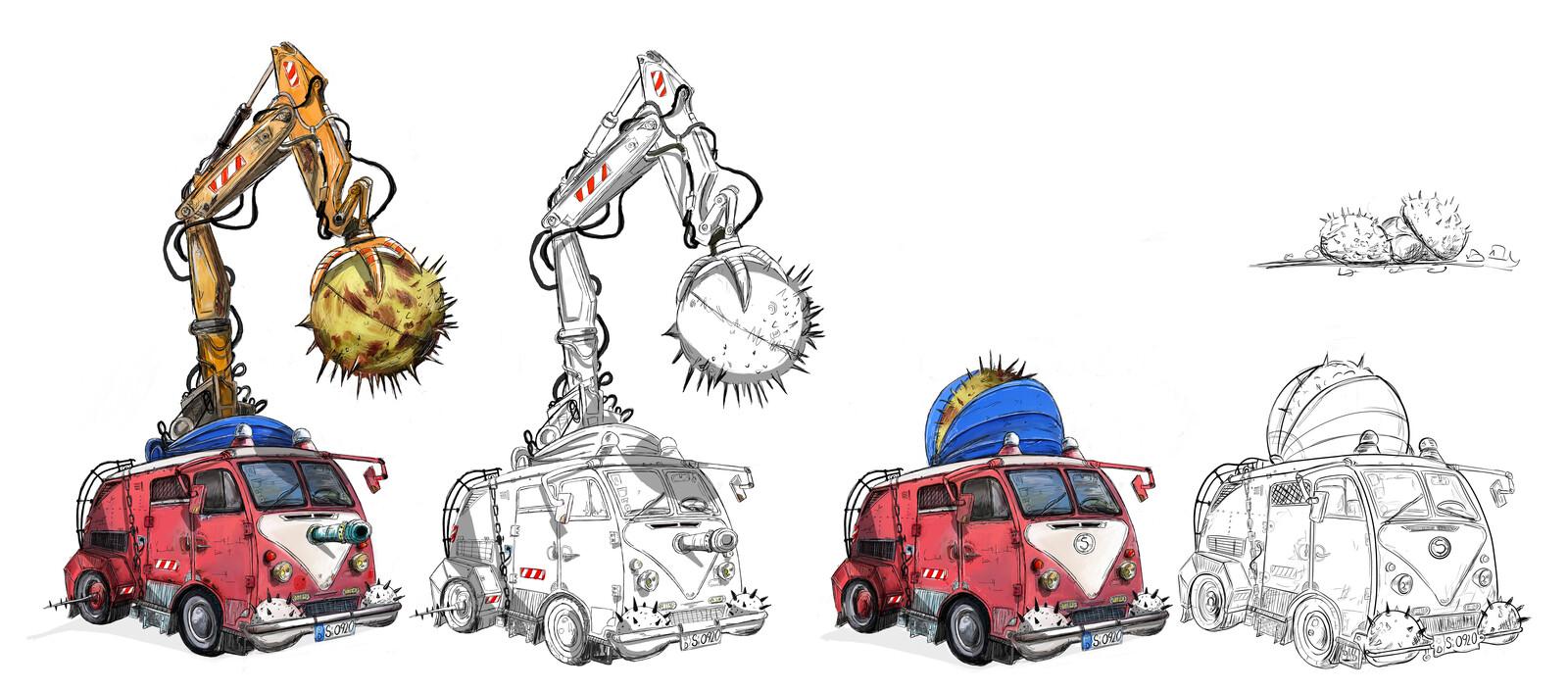 The Destroyer, wrecking racing van
