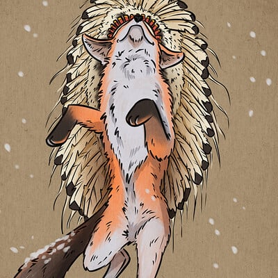 Oixxo art 2020 12 24 fox