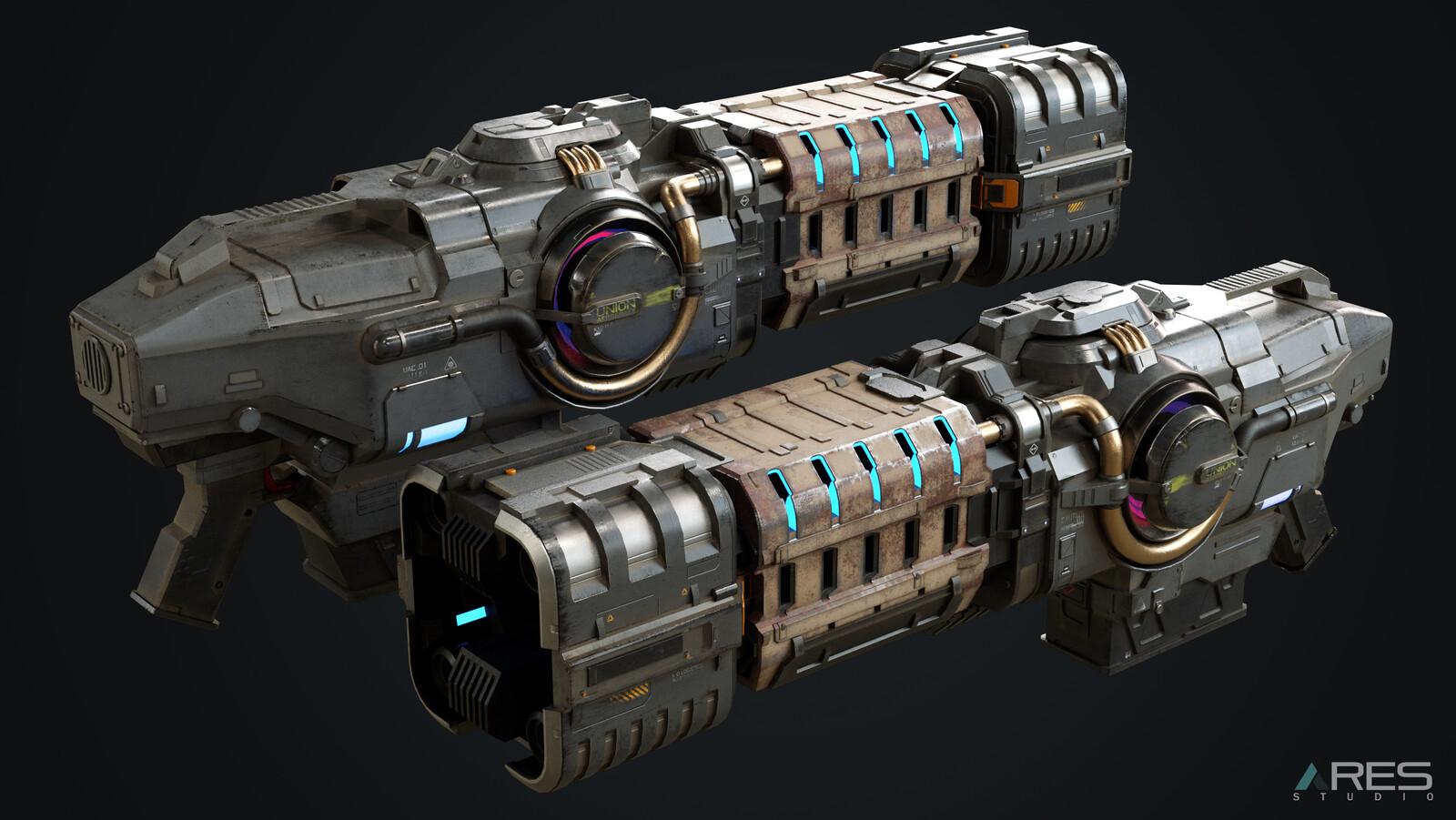 Doom Eternal - Plasma  Rifle - 3D Modelling + Texturing (FAN ART)