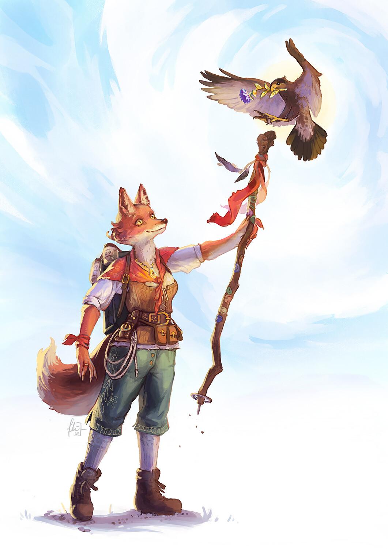 Fox Adventurer Character Design
