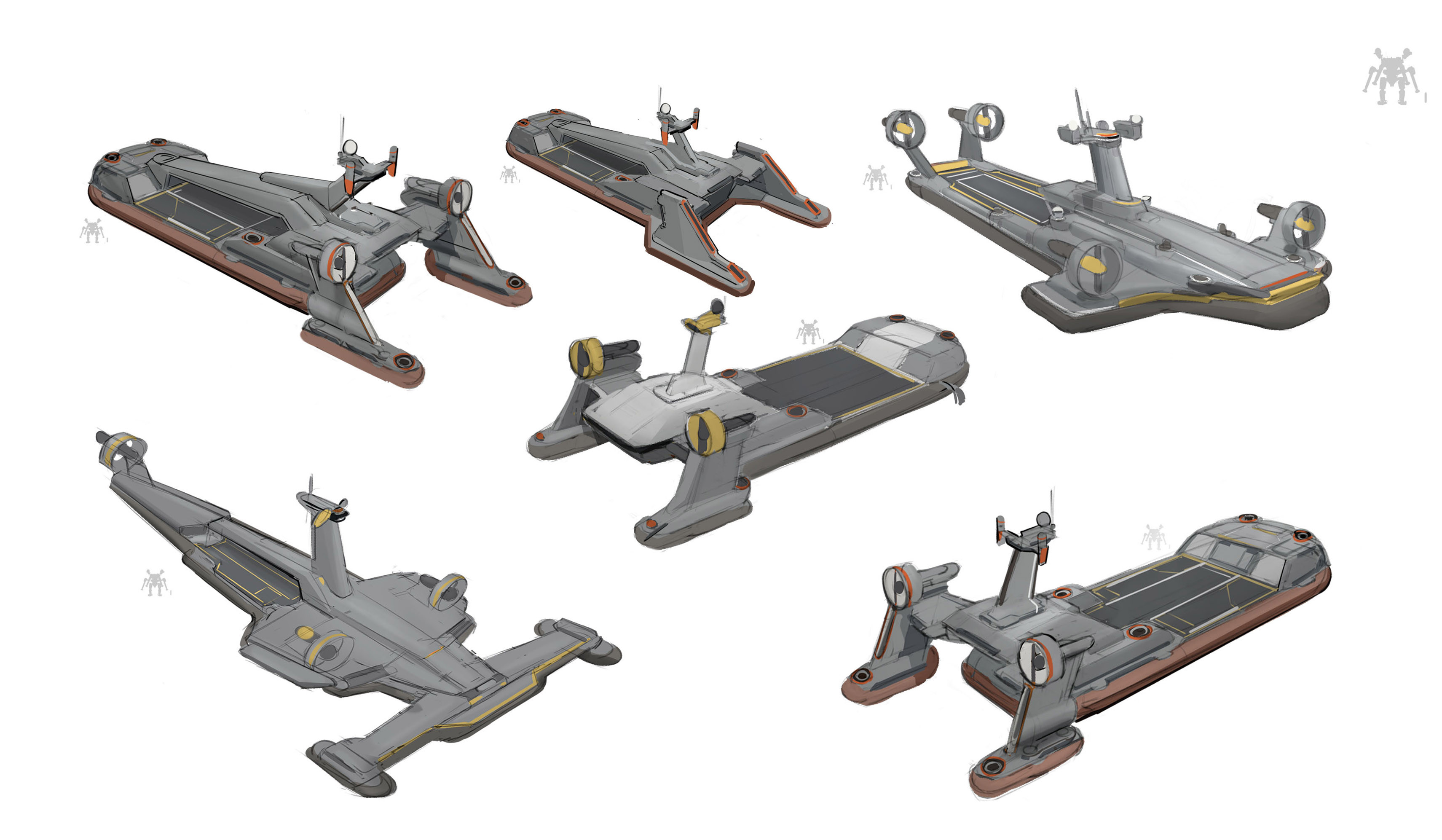 hover carrier sketches