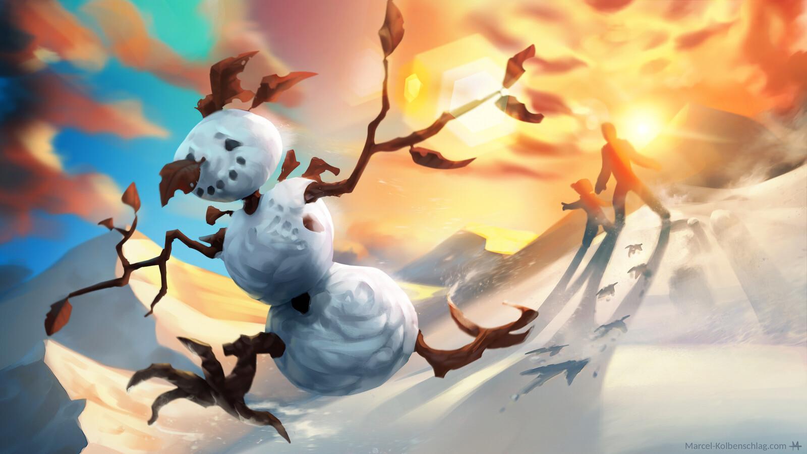 Escaping Snowman
