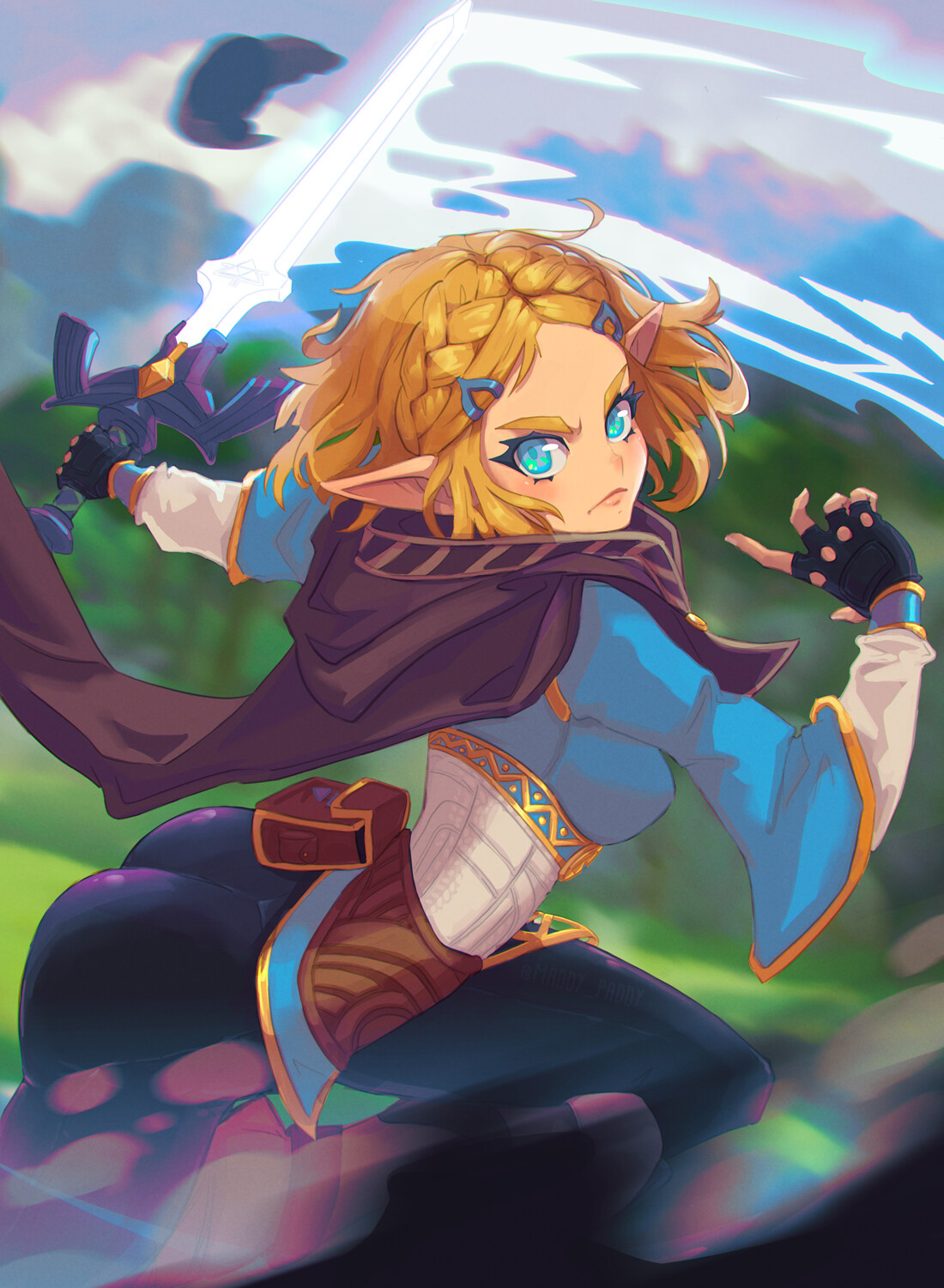 Zelda BotW fan art