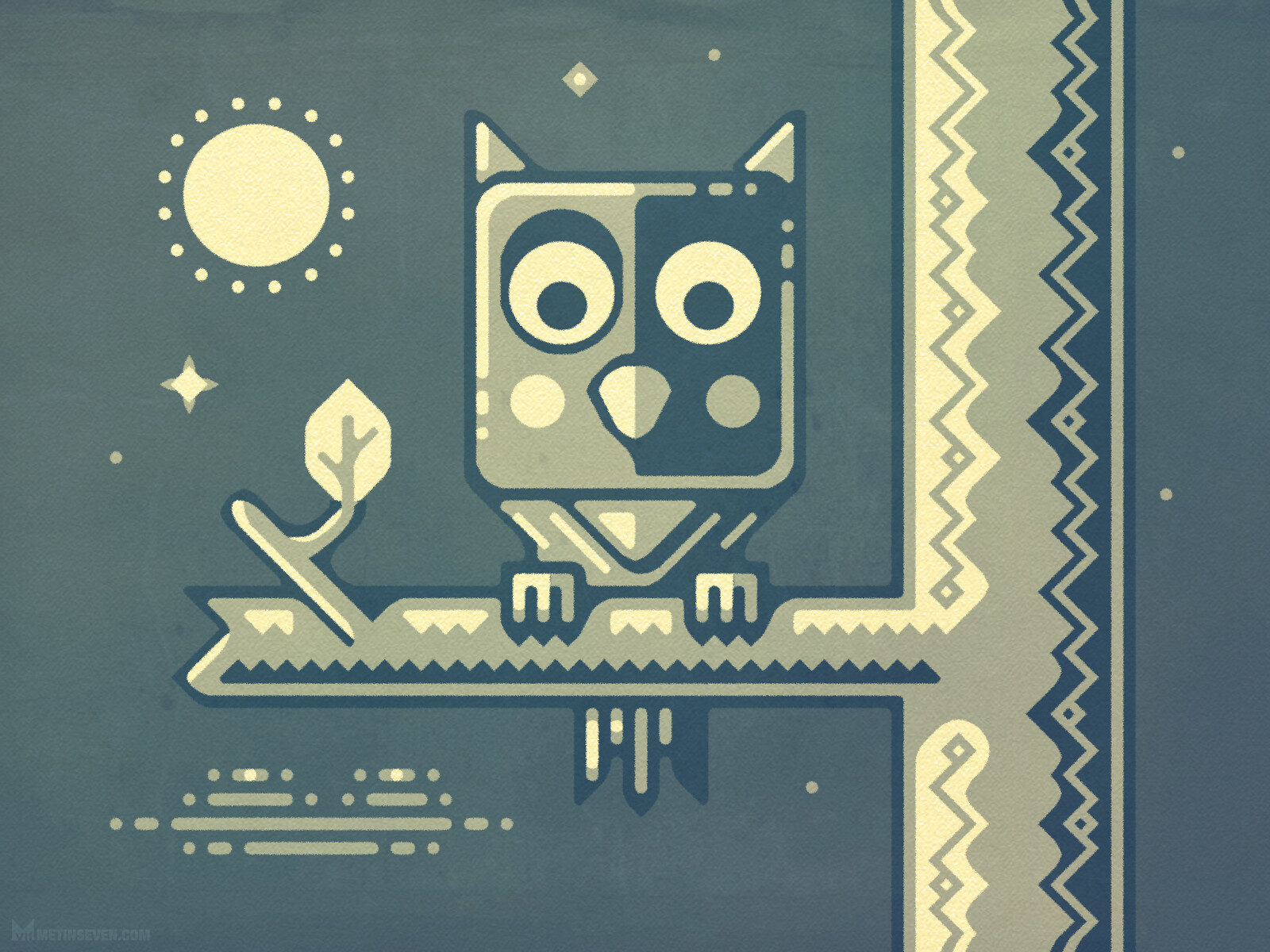 Night owl character design in a fairylike style
