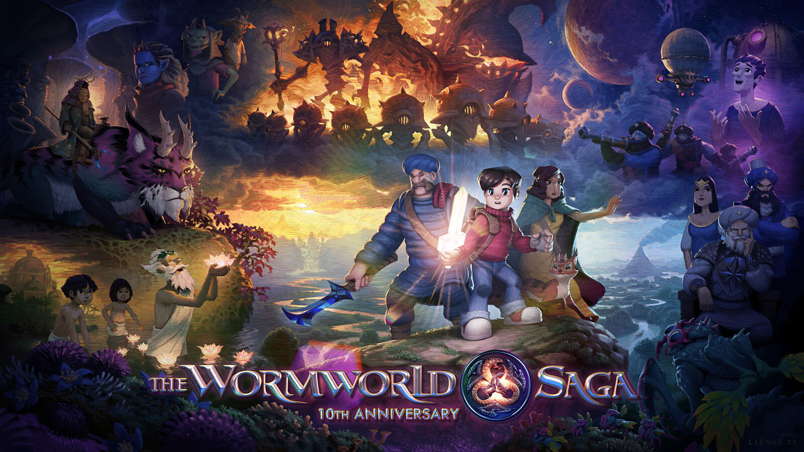 The Wormworld Saga 10th Anniversary Artwork