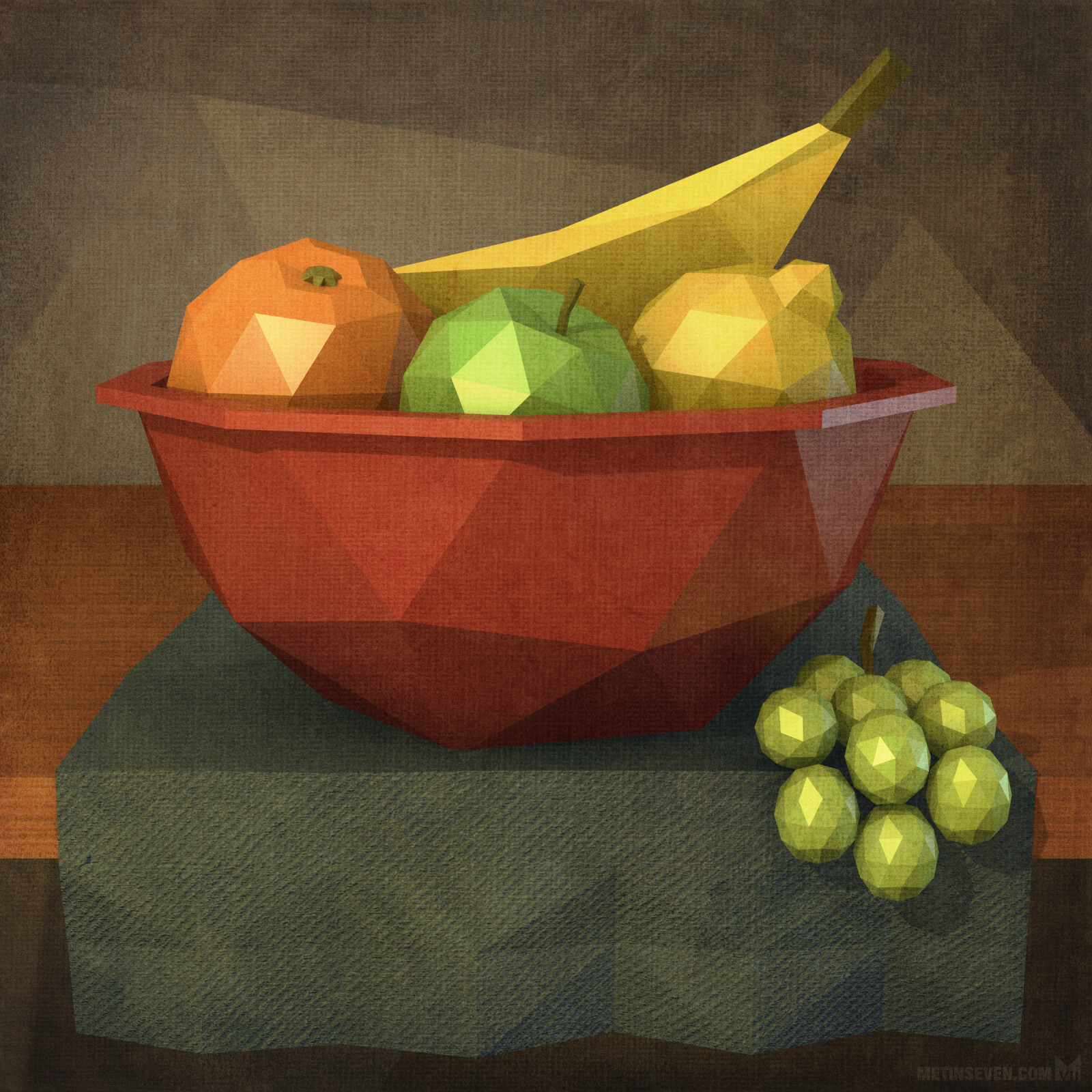 Low-poly still life