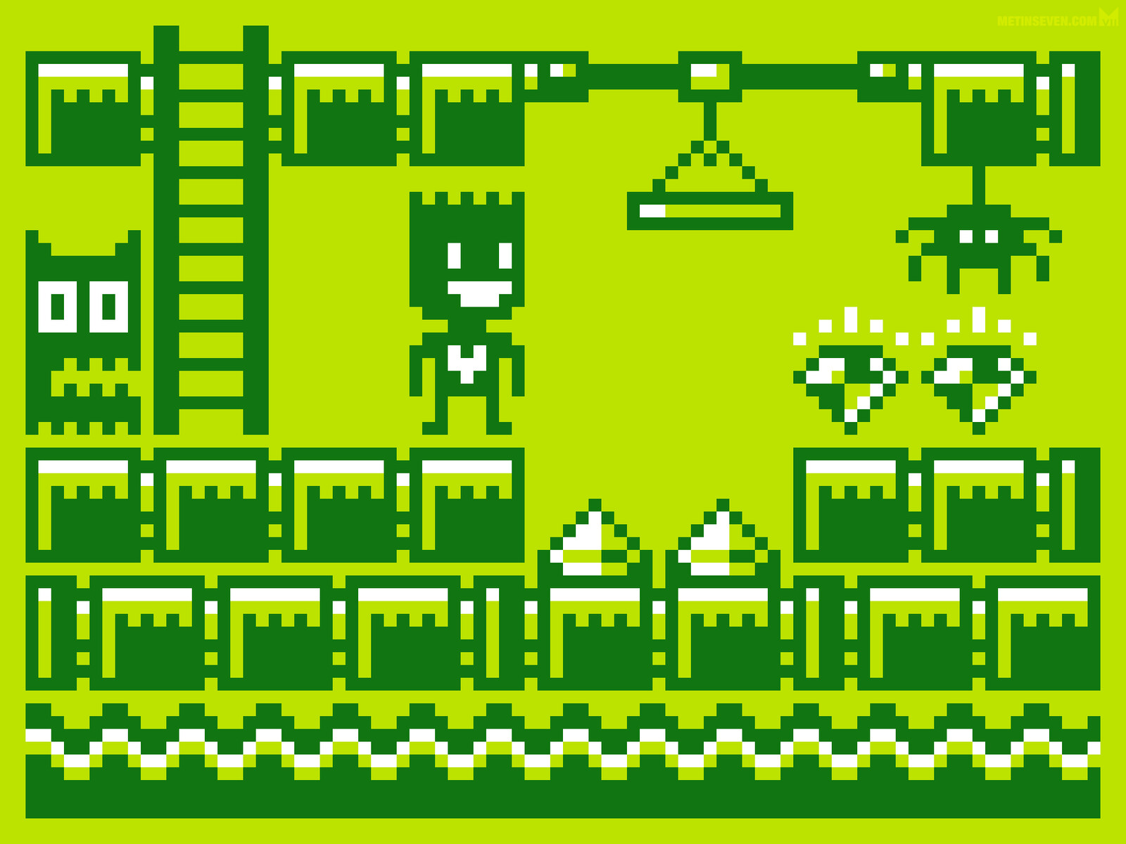 Gameboy-style low-resolution pixel art