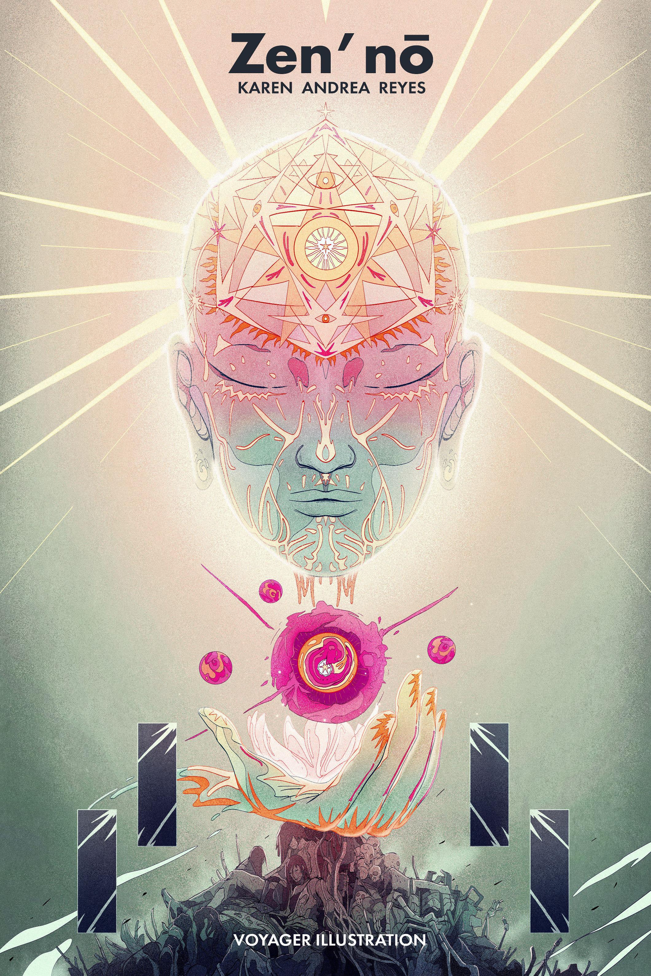 """""""Y cuentan que hubo un tiempo en el cual no existía el universo: las dimensiones ,los seres o cualquier expresión de realidad se encontraban ausentes.  La mente era un espejo negro infinito y frente a ella solo esperaba uno, el visitante."""" Zen'nō,"""