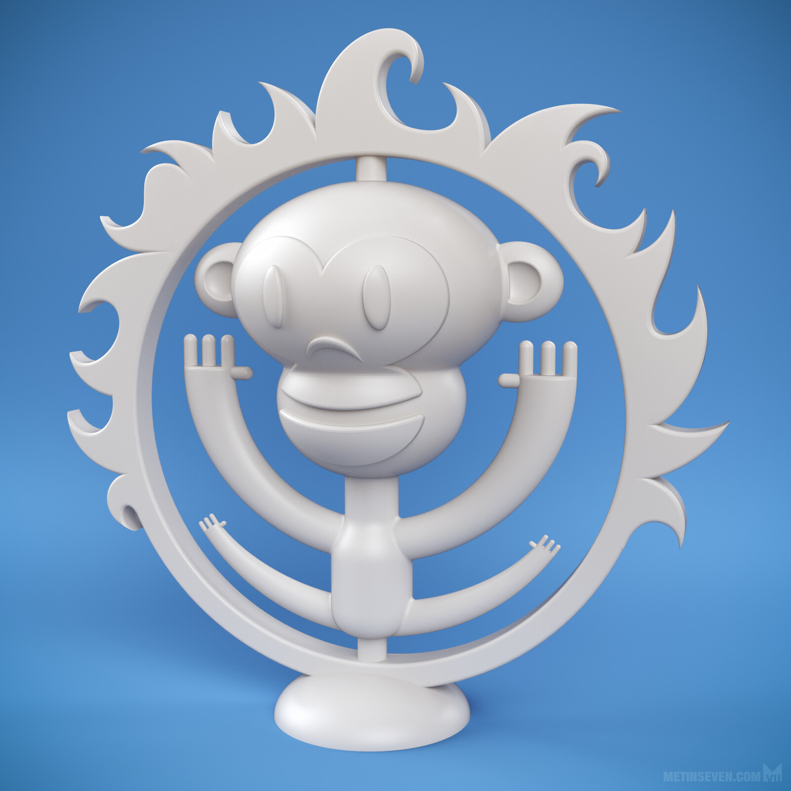 3D-printed award design, derived from the customer's logo
